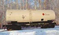 Железнодорожная цистерна для перевозки нефтепродуктов