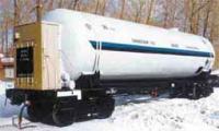Железнодорожная цистерна для перевозки и хранения жидких кислорода, азота, аргона