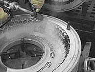 Очистка формы автопокрышки